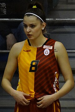 İrem Naz Topuz Fenerbahçe Women's Basketball vs Galatasaray Women's Basketball TWBL 20180408 (cropped).jpg