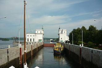 Leningrad Oblast - Lock at the Upper Svir Hydroelectric Station.