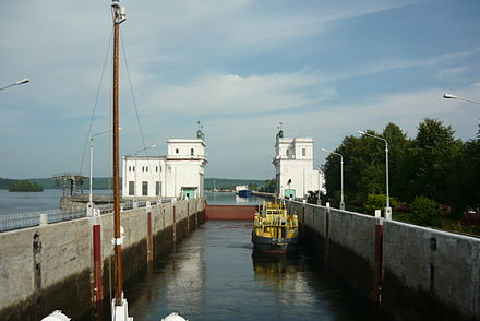 Lock at the Upper Svir Hydroelectric Station. Verkhnesvirskaia GES (8).JPG