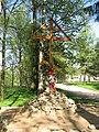 Гатчина. Крест на месте Харлампиева монастыря.jpg