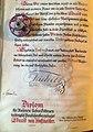 Диплом о награждении Эдуарда Хоффмайстера титулом потомственной аристократии.jpg
