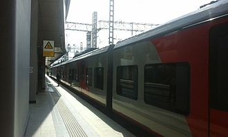 Adler railway station - Image: Ласточка на станции Адлер