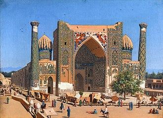 Madrasa - Registan, Sher-Dor Madrasa in Samarkand