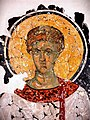Первомученик Архидиакон Стефан. Фреска из церкви Спаса на Ковалёве близ Новгорода. 1380 год. Фрагмент.jpg