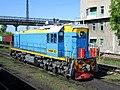 ТЭМ18ДМ-3123, Казахстан, Карагандинская область, станция Распорядительная (Trainpix 133125).jpg