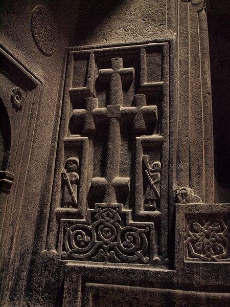 Խաչքար Գեղարդի վանքի ներսում, մարտ 2011, 1.JPG