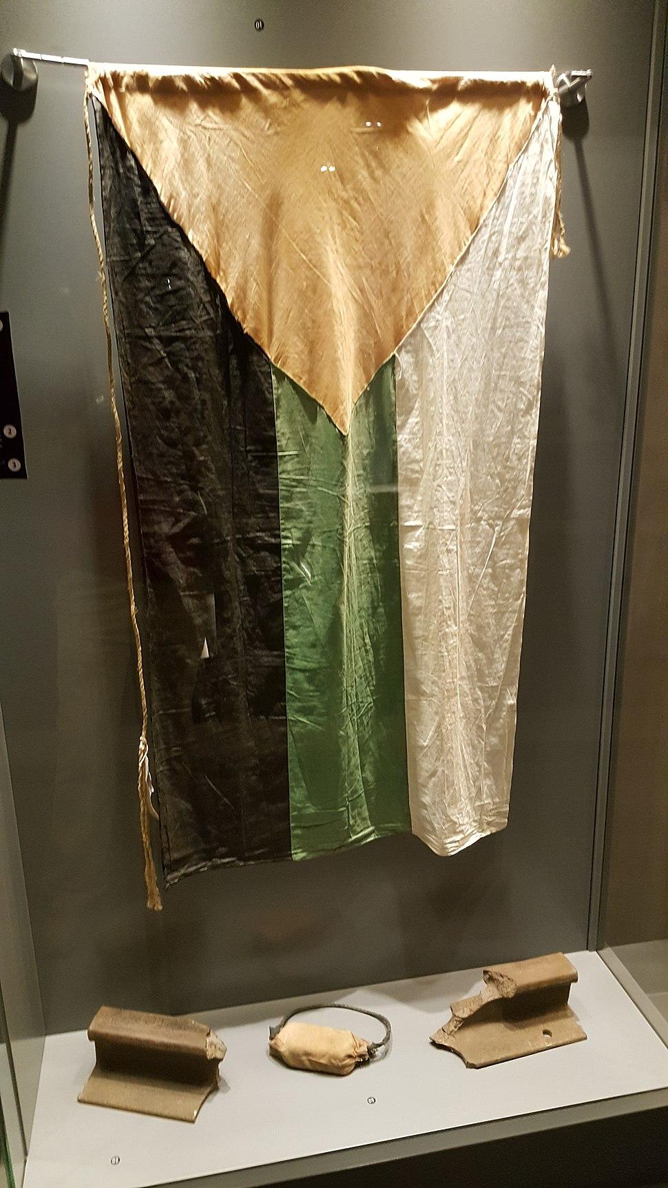 علم الثورة العربية الكبرى في متحف صرح الشهيد