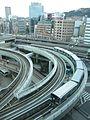 ポートライナーと三宮 Sannomiya with Portliner - panoramio.jpg