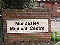 -2019-01-15 Name sign, Mundesley Medical Centre, Munhaven Close, Mundesley, Norfolk.JPG