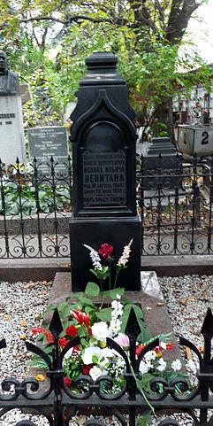 Могила Левитана на Новодевичьем кладбище