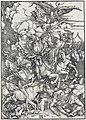 05. Albrecht Dürer, Apokalypsa, III. Čtyři apokalyptičtí jezdci, Národní galerie v Praze.jpg