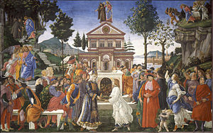 Temptations of Christ (Botticelli) - Image: 05 Tentaciones de Cristo (Botticelli)