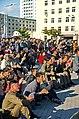0920 - Nordkorea 2015 - Pjöngjang - Public Viewing am Bahnhofsplatz (22988257531).jpg