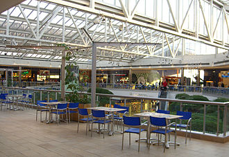 Paramus Park - The second floor food court, as seen in 2009. In the background on the right is the giant metal turkey statue.