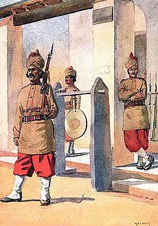 124th Baluchistan Infantry, watercolour by Maj AC lovett, 1910 2