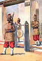 124th Baluchistan Infantry, watercolour by Maj AC lovett, 1910 2.jpg