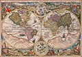 1594 double hemisphere world map by Petrus Plancius.jpg