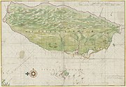 1640 Map of Formosa-Taiwan by Dutch He Lan Ren Suo Hui Fu Er Mo Sha -Tai Wan .jpg