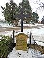 169 - 2. Milovice. Kříž na hrobě 6 rakouských a 5 pruských vojáků.jpg
