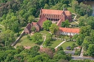 Chorin Abbey - aerial view 2017