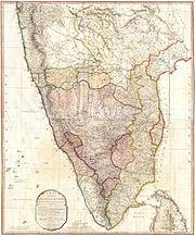 1793 Faden Wall Map of India - Geographicus - India-faden-1793