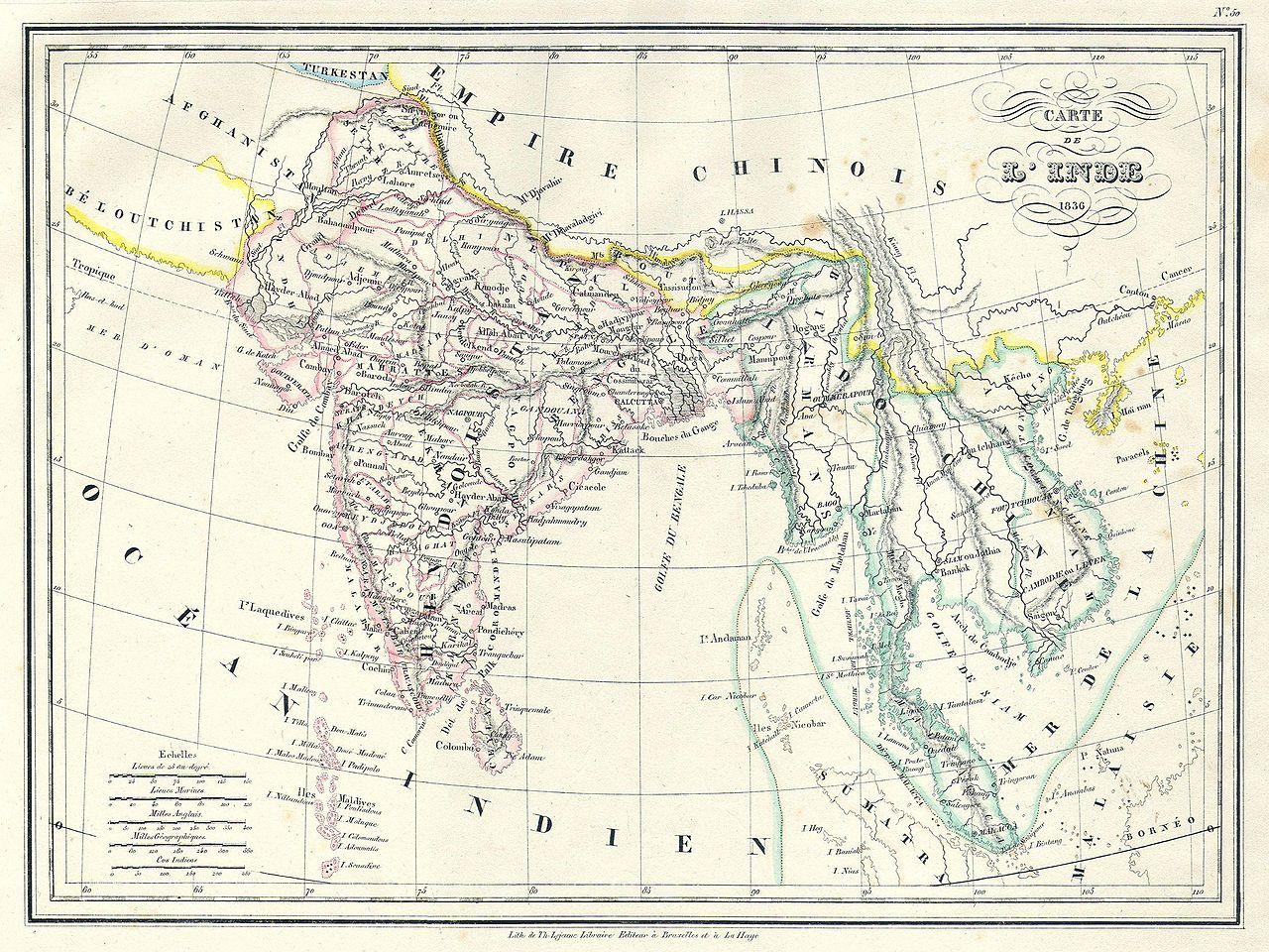File 1837 Malte Brun Map of India Burma and Southeast Asia Siam