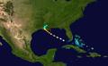 1856 Last Island hurricane track.png