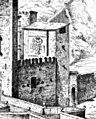 1864, El Arte en España, Puente de Alcántara, Pizarro (cropped). Antigua puerta de Alcántara.jpg