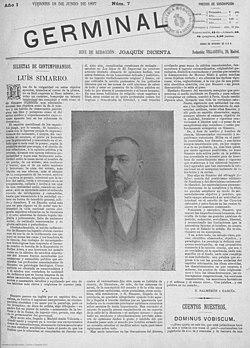 1897-06-18 , Germinal, Siluetas de contemporáneos, Luís Simarro, Nicolás Salmerón y García.jpg