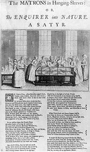 Satire anglaise du XVIIIe siècle contre l'éducation sexuelle des jeunes filles: le poème condamne «la démangeaison salace de connaître des Choses secrètes / et de remonter la nature humaine jusqu'à se source».