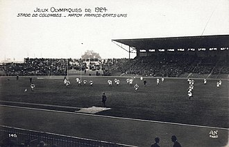 United States national rugby union team - France vs USA rugby match during the 1924 Summer Olympics
