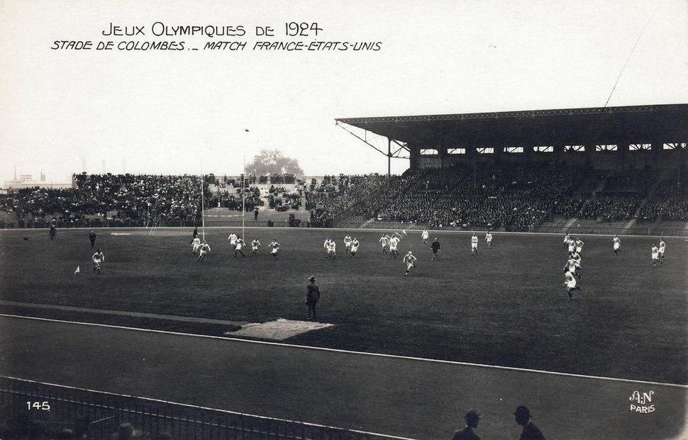 1924 France vs USA rugby match