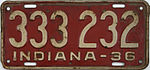 1936 Indiana license plate.JPG