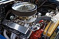 1957 Chevrolet Bel Air 4600cc engine bay at Hatfield Heath Festival 2017 1.jpg