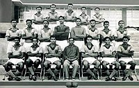 India national football team photo session before 1960 Olympics