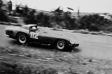 The 250TRI61 of Abate/Maglioli, driving for Scuderia Serenissima at the 1963 Nürburgring 1000km.