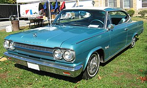 "Rambler Marlin - Only the 1965 Marlins had the ""Rambler"" nameplate on the hood and rear panel"