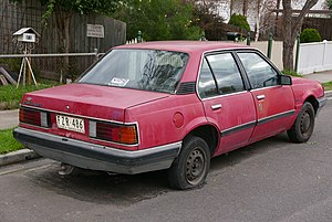 Holden Camira - JB Camira SLX sedan (Australia)