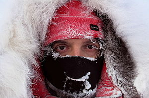 Luca Bracali - Stopover during the trek to the geographic North Pole at -35°.