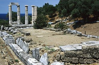 Samothrace temple complex - A picturesque view of the Hieron