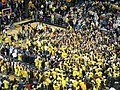 20081206 Crisler Arena fan celebration after Duke victory.jpg