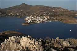 20090608 Perdika Aegina panoramic image from Moni island Greece.jpg