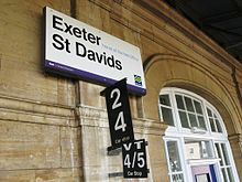 2009 at Exeter St Davids - platform 6 signs.jpg