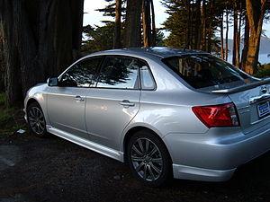 A 2010 Subaru Impreza WRX sedan in San Francis...