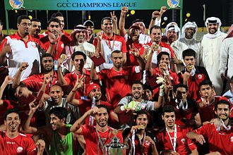 Al-Muharraq SC - Al Muharraq after being crowned champions of the GCC Champions League