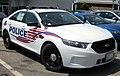 A 2013 Police Interceptor sedan sits as a new addition to the Washington D.C...