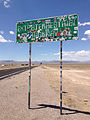 2014-07-18 13 12 32 Sign for the Extraterrestrial Highway along northbound Nevada State Route 375 about 38.7 miles north of Nevada State Route 318 in Rachel, Nevada.JPG