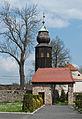 2014 Kamienica, kościół św. Jerzego, mur 05.JPG