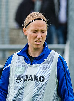Stefanie Draws - Draws playing for Turbine Potsdam in 2015