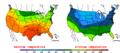 2015-10-16 Color Max-min Temperature Map NOAA.png
